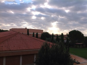 A morning view from my dorm.
