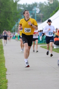 This is me hobbling to finish in mile 26. All that matters is that we make it!