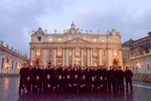In St. Peter's Square (photo credit: Br. Brett Taira)