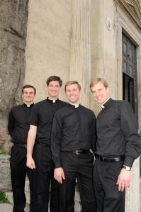 With my good friends brothers: Br. Keegan, Br. Daniel and Br. David.