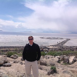 At Spiral Jetty