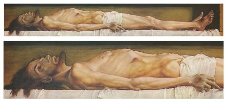 The Body of the Dead Christ in the Tomb by Hans Holbein