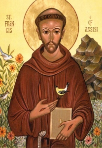 St. Francis of Assisi, whose love for nature is cited in the encyclical.