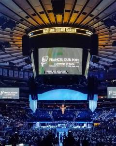 The arena of Madison Square Garden shortly before the papal mass. [Photo credit: Fr. Jason Smith, LC]