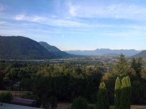 A view of the Fraser River Valley from the Abbey.
