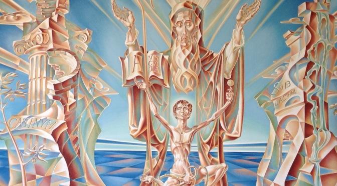 Epic Art: A Marvelous Fresco of an Amazing Monk