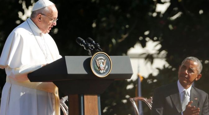 Pope Francis at the White House Calls for Defense of Religious Freedom