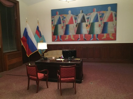 "The conference room turned into ""a Russian embassy."""