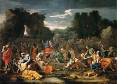"""""""Israelites Gathering Manna"""" - Nicolas Poussin"""